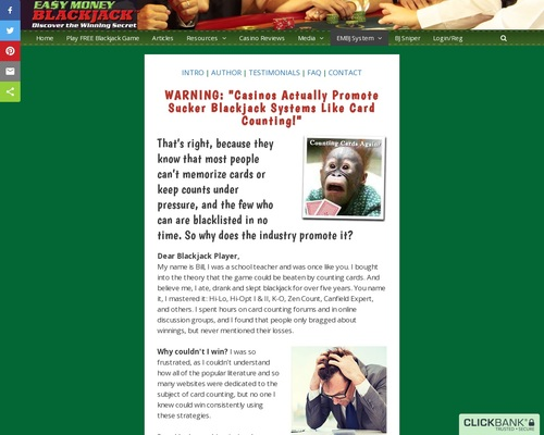 Easy Money Blackjack System – #1 No Card Counting Gambling Strategy!