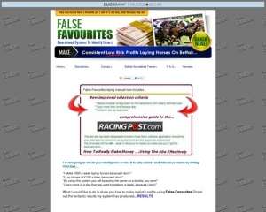 False Favorites High Quality Horse Racing System Proven To Win